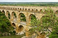 Il Pont antico du il Gard della Francia fotografie stock
