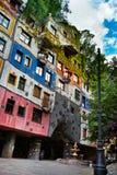 La vista della casa di Hundertwasser fotografia stock