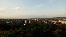 La vista della città dalla vista di occhio dell'uccello Fotografia Stock
