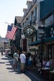 La vista della città di Newport e di vecchio porto (Rhode Island) Fotografie Stock Libere da Diritti
