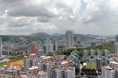 La vista della città di zhuhai fotografia stock libera da diritti