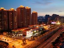La vista della città di zhuhai immagine stock