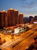 La vista della città di zhuhai fotografie stock