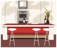 La vista della cucina moderna illustrazione di stock