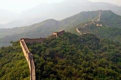 La vista della Grande Muraglia Fotografia Stock Libera da Diritti