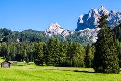 La vista della montagna di Dolomiti Immagini Stock Libere da Diritti