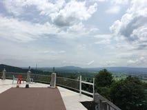 La vista della montagna superiore Fotografie Stock Libere da Diritti