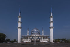 La vista della moschea di Sultan Salahuddin Abdul Aziz Shah è la moschea dello stato di Selangor, Malesia Fotografia Stock Libera da Diritti