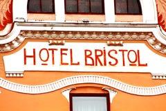 La vista della parte di precedente hotel Bristol, Cernivci, Ucraina Immagine Stock