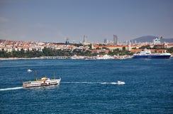 La vista della riva asiatica del Bosphorus dal PA di Topkapi Fotografie Stock Libere da Diritti