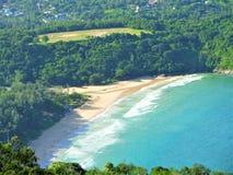 La vista della spiaggia Immagine Stock