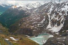 La vista delle alpi Fotografia Stock