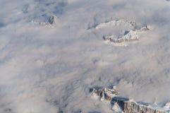 La vista delle alpi in Austria da un aeroplano Immagine Stock Libera da Diritti
