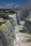 La vista delle cadute del Iguazu Falls Fotografia Stock Libera da Diritti