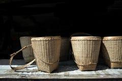 La vista delle foglie di tè fotografie stock