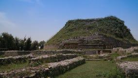 La vista dello stupa di Dharmarajika in Taxila rovina il Pakistan Fotografie Stock