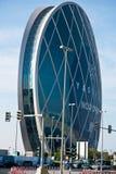 La vista di Aldar acquartiera la costruzione in Abu Dhabi Immagine Stock Libera da Diritti