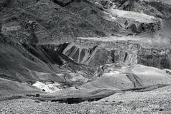 La vista di alluna, Lamayuru, Ladakh, il Jammu e Kashmir, India Immagine Stock