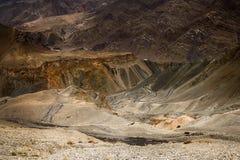 La vista di alluna, Lamayuru, Ladakh, il Jammu e Kashmir, India Fotografia Stock
