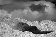 La vista di alluna a Leh, Ladakh, il Jammu e Kashmir, India Immagini Stock