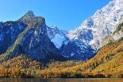 La vista di Alpes dalla Germania. Montagna di Watzmann   Immagine Stock Libera da Diritti