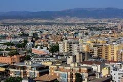 La vista di Cagliari, la capitale della Sardegna, Italia Fotografie Stock