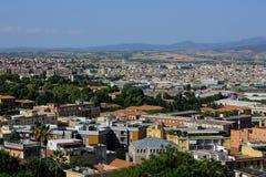 La vista di Cagliari, la capitale della Sardegna, Italia Fotografie Stock Libere da Diritti