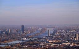 La vista di capitale austriaca Vienna Immagini Stock Libere da Diritti