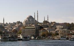 La vista di Costantinopoli Immagini Stock Libere da Diritti