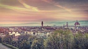 La vista di Firenze, effettua il retro film Immagini Stock Libere da Diritti