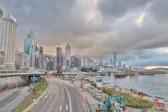 La vista di giorno della strada di Gloucester, Hong Kong Immagine Stock Libera da Diritti