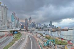 La vista di giorno della strada di Gloucester, Hong Kong Fotografia Stock Libera da Diritti