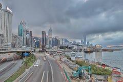 La vista di giorno della strada di Gloucester, Hong Kong Immagini Stock Libere da Diritti