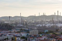 La vista di industria petrolifera Fotografie Stock
