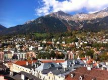 La vista di Innsbruck Fotografia Stock Libera da Diritti
