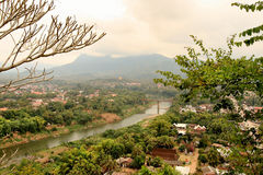 La vista di Luang Prabang (Laos) Fotografia Stock Libera da Diritti