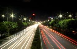 La vista di notte della Cina Shenzhen Fotografia Stock