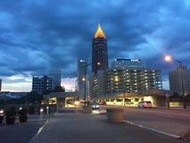 La vista di notte di Atlanta Fotografia Stock Libera da Diritti