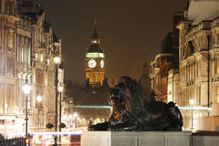 La vista di notte di Londra, include Big Ben Fotografia Stock Libera da Diritti