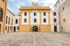La vista di Palazzo Steri Chiaramonte è un palazzo storico a Palermo, Sicilia, Italia Immagine Stock