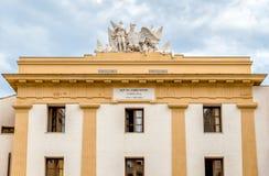 La vista di Palazzo Steri Chiaramonte è un palazzo storico a Palermo, Sicilia, Italia Fotografia Stock Libera da Diritti