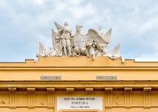 La vista di Palazzo Steri Chiaramonte è un palazzo storico a Palermo, Sicilia, Italia Immagine Stock Libera da Diritti
