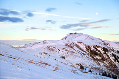 La vista di Pengelstein e di Steinbergkogel a Kitzbuhel Fotografia Stock