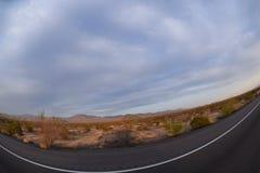 La vista di Pranoramic del Nevada abbandona in U.S.A. Immagine Stock Libera da Diritti