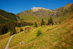 La vista di Schilthorn in Svizzera Fotografie Stock Libere da Diritti