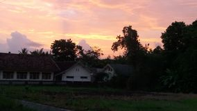 La vista di tramonto Fotografia Stock Libera da Diritti