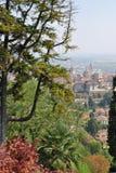 La vista di vecchia città Bergamo Fotografia Stock Libera da Diritti