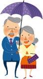 La vista di vecchie coppie royalty illustrazione gratis