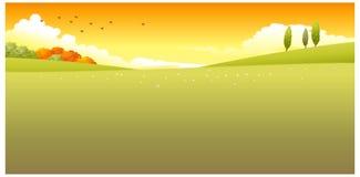 La vista di verde archivata Immagine Stock