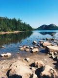 La vista escénica del puerto de la barra, Maine Imágenes de archivo libres de regalías